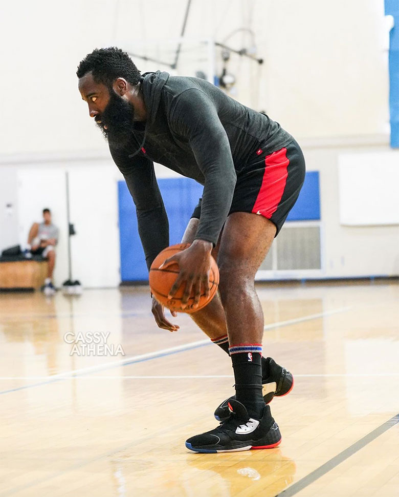 James harden wears adidas Harden vol.4